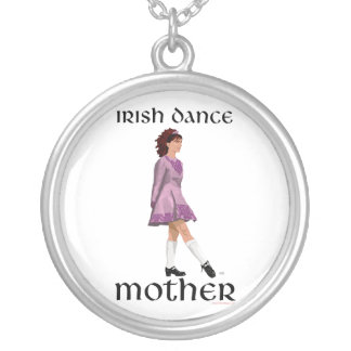Irish Step Dance Mother - Mauve Silver Plated Necklace