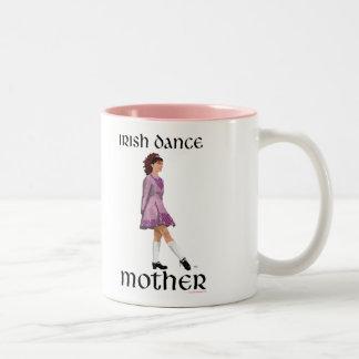 Irish Step Dance Mother - Mauve Two-Tone Coffee Mug