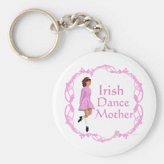 Irish Step Dance Mother - Pink Keychain