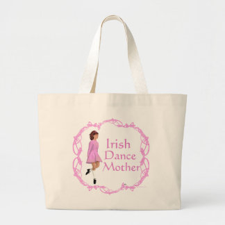 Irish Step Dance Mother - Pink Large Tote Bag