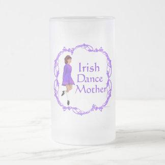 Irish Step Dance Mother - Purple 16 Oz Frosted Glass Beer Mug