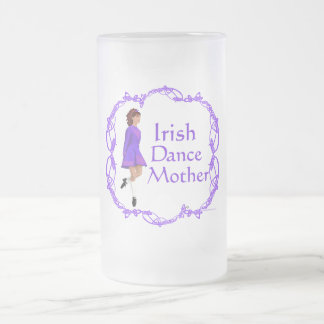 Irish Step Dance Mother - Purple Frosted Glass Beer Mug