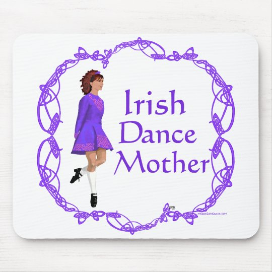 Irish Step Dance Mother - Purple Mouse Pad