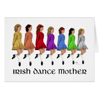 Irish Step Dance Mother - Rainbow Line Greeting Card