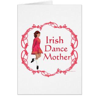 Irish Step Dance Mother - Red Greeting Card