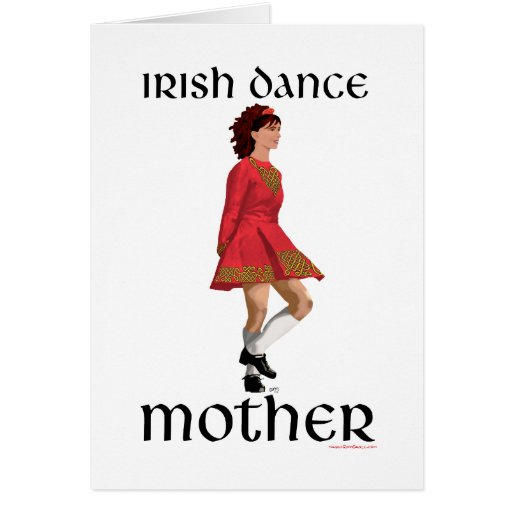 Irish Step Dance Mother - Red Card
