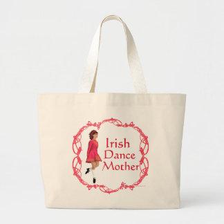 Irish Step Dance Mother - Red Jumbo Tote Bag