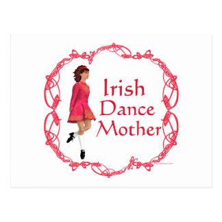 Irish Step Dance Mother - Red Postcard