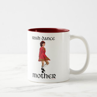 Irish Step Dance Mother - Red Two-Tone Coffee Mug