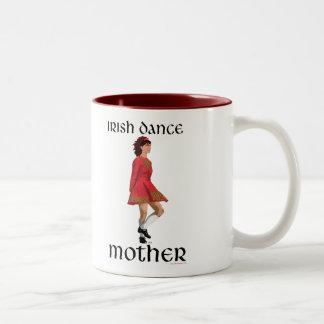 Irish Step Dance Mother - Red Two-Tone Coffee Mug