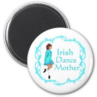Irish Step Dance Mother - Turquoise Refrigerator Magnet