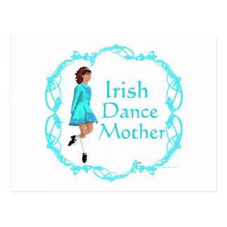 Irish Step Dance Mother - Turquoise Postcard
