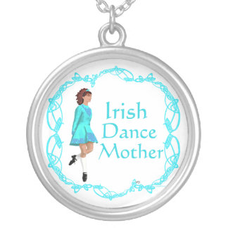 Irish Step Dance Mother - Turquoise Silver Plated Necklace