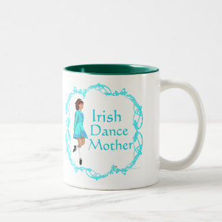 Irish Step Dance Mother - Turquoise Two-Tone Coffee Mug