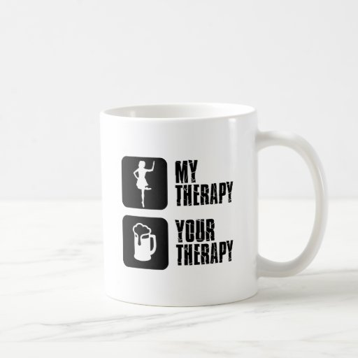 irish step dance my therapy coffee mugs