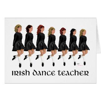 Irish Step Dance Teacher - Black Line Card