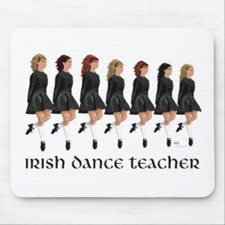 Irish Step Dance Teacher - Black Line Mouse Pad
