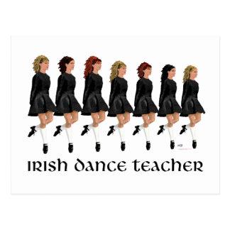 Irish Step Dance Teacher - Black Line Postcards