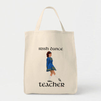 Irish Step Dance Teacher - Blue Soft Shoe Grocery Tote Bag