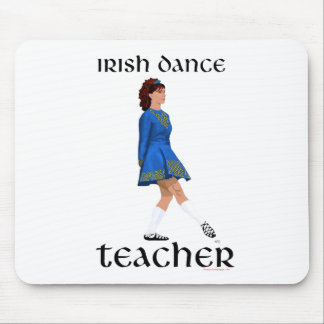 Irish Step Dance Teacher - Blue Soft Shoe Mouse Pad