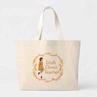 Irish Step Dance Teacher - Gold Jumbo Tote Bag