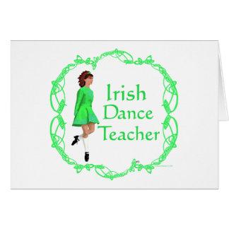 Irish Step Dance Teacher - Green Greeting Cards