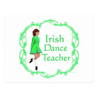 Irish Step Dance Teacher - Green Post Cards