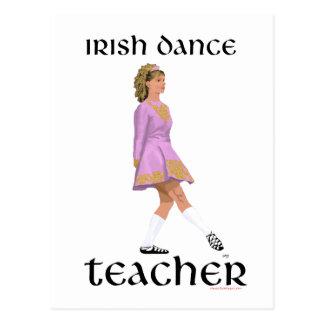 Irish Step Dance Teacher - Pink Soft Shoe Postcard