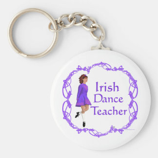 Irish Step Dance Teacher - Purple Basic Round Button Keychain