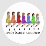 Irish Step Dance Teacher - Rainbow Round Stickers
