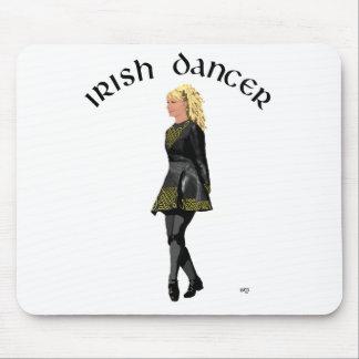 Irish Step Dancer - Black Dress, Light Blonde Hair Mouse Pad