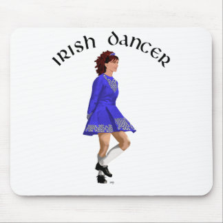 Irish Step Dancer - Blue Dress Mouse Pad