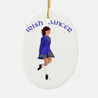 Irish Step Dancer - Blue Christmas Ornaments