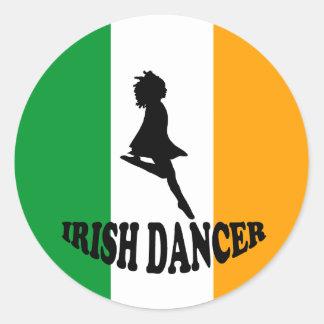 Irish Step Dancer Classic Round Sticker