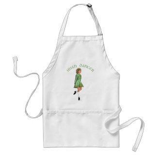 Irish Step Dancer - Green Adult Apron