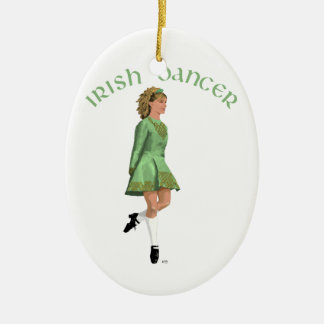 Irish Step Dancer - Green Ceramic Ornament