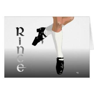 Irish Step Dancer - Hard Shoe - Rince Card
