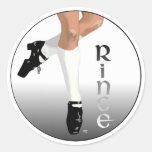 Irish Step Dancer - Hard Shoe - Rince Classic Round Sticker