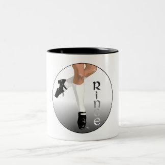 Irish Step Dancer - Hard Shoe - Rince Two-Tone Coffee Mug