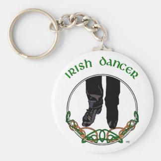 Irish Step Dancer - Male Basic Round Button Keychain