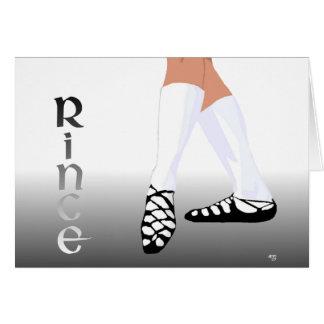 Irish Step Dancer - Soft Shoe - Rince Card