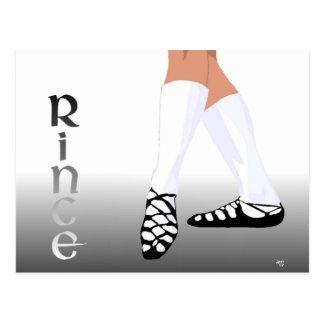 Irish Step Dancer - Soft Shoe - Rince Postcard