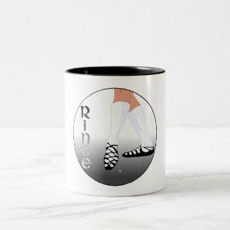 Irish Step Dancer - Soft Shoe - Rince Two-Tone Coffee Mug
