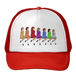 Irish Step Dancers - Rainbow Line of Dancers Trucker Hat