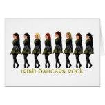 Irish Step Dancers Rock Card