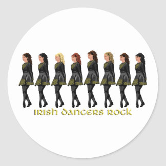 Irish Step Dancers Rock Classic Round Sticker