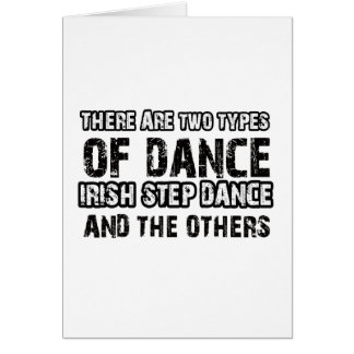 Irish stepdance Dance Designs Card