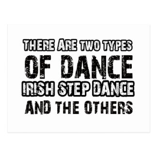 Irish stepdance Dance Designs Postcard