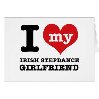 irish stepdance Girlfriend designs Greeting Card