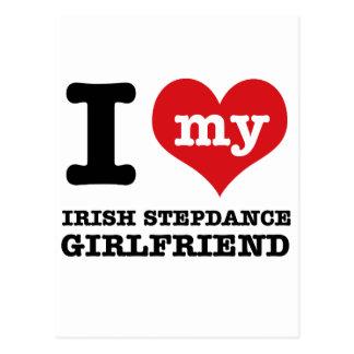 irish stepdance Girlfriend designs Post Cards